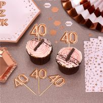 Glitz & Glamour Rose Gold Food Picks 40th (20)